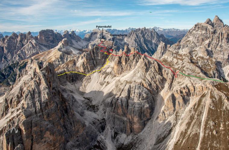 Topo Paternkofel De Luca - relazione Monte Paterno - Alpinschule Drei Zinnen Dolomiten
