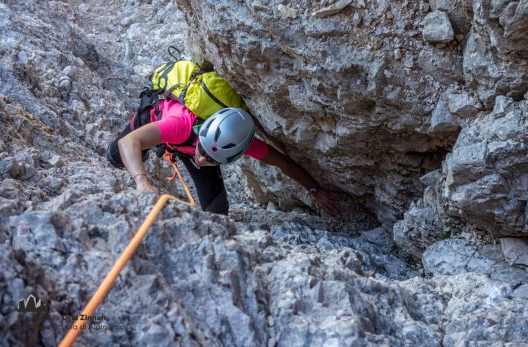 Westliche Zinne Normalweg - Cima Ovest via normale - Alpinschule Drei Zinnen 2020 (3)