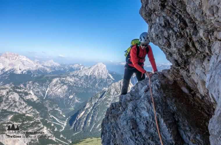 Westliche Zinne Normalweg - Cima Ovest via normale - Alpinschule Drei Zinnen 2020 (5)