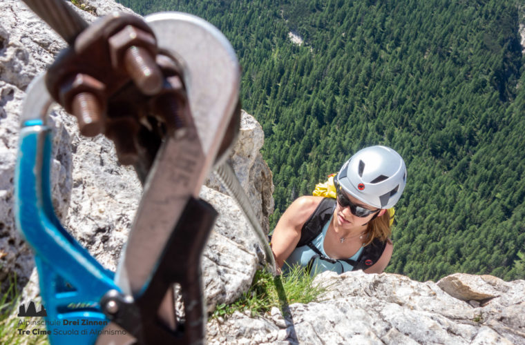 Klettersteig - Via ferrata Col Rosa - Alpinschule Drei Zinnen 2020 (1)