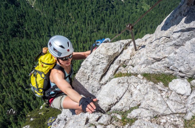 Klettersteig - Via ferrata Col Rosa - Alpinschule Drei Zinnen 2020 (3)