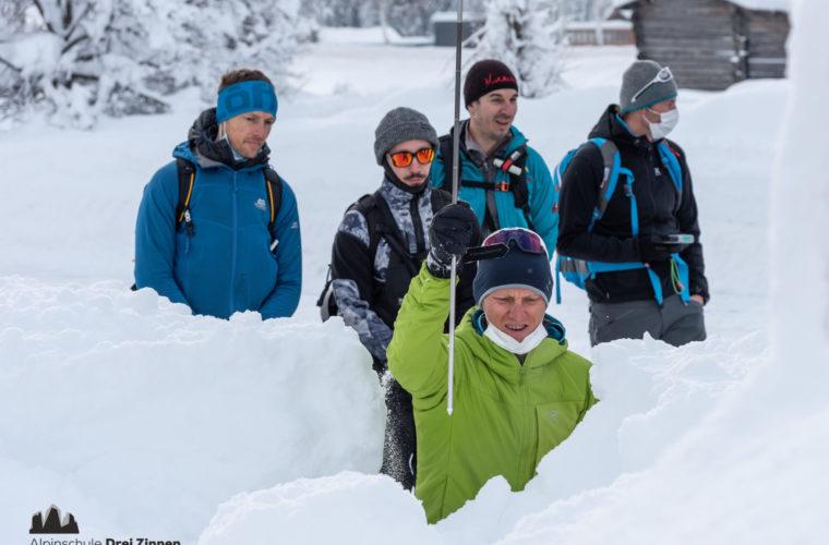 Lawinencoaching - corso valanghe - avalanche training - Alpinschule Drei Zinnen 2020 (7)