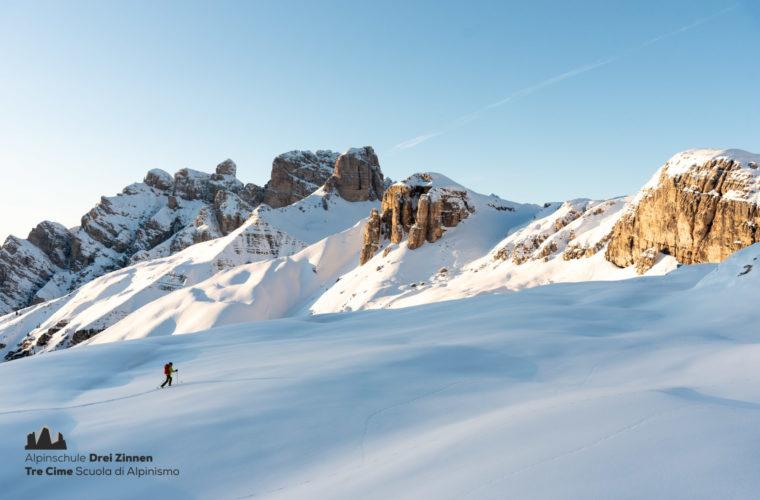 Skitour easy leicht facile sci alpinismo 2020 - Alpinschule Drei Zinnen (5)