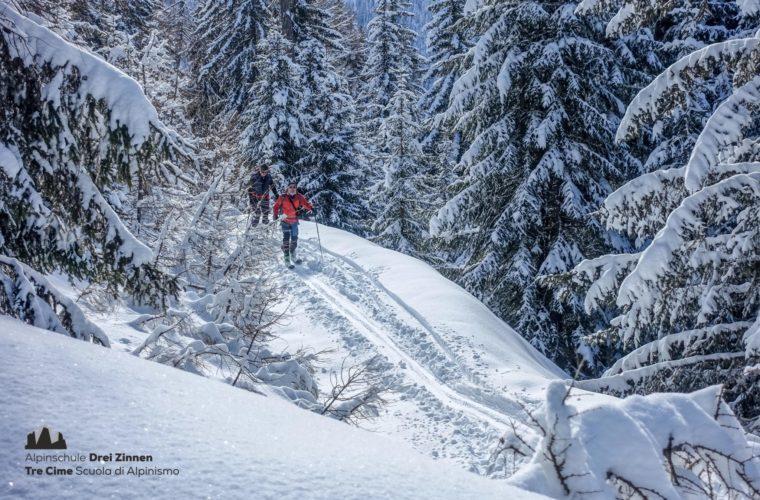 Skitour easy leicht facile sci alpinismo 2020 - Alpinschule Drei Zinnen (6)