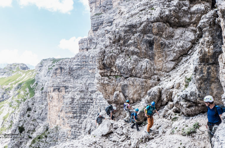 Klettersteig um den Zwölfer - via ferrata Croda dei Toni-1