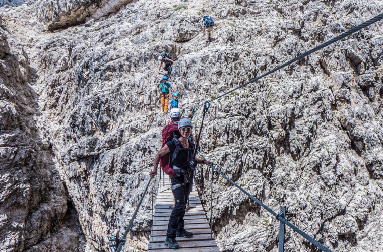 Klettersteig um den Zwölfer - via ferrata Croda dei Toni-2