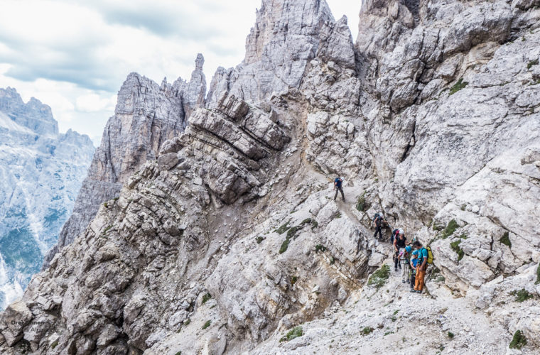 Klettersteig um den Zwölfer - via ferrata Croda dei Toni-5