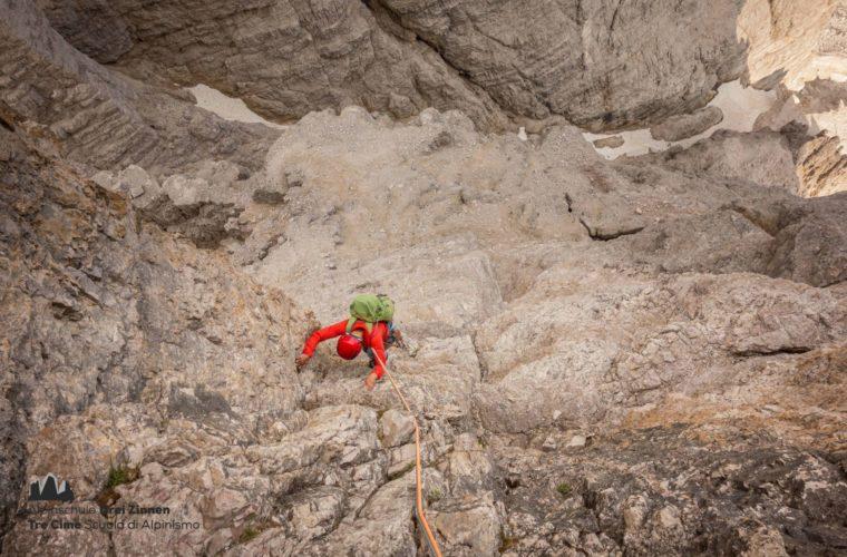Klettern Grosse Zinne Dülfer Cima Grande arrampicata (1)