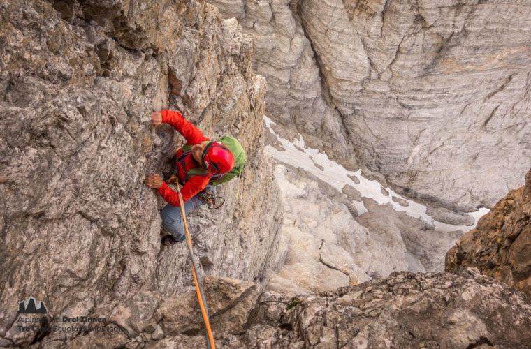 Klettern Grosse Zinne Dülfer Cima Grande arrampicata (4)