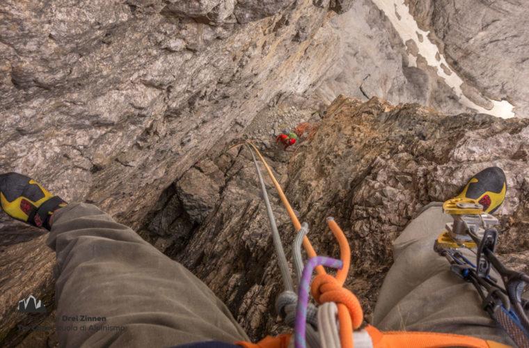 Klettern Grosse Zinne Dülfer Cima Grande arrampicata (6)