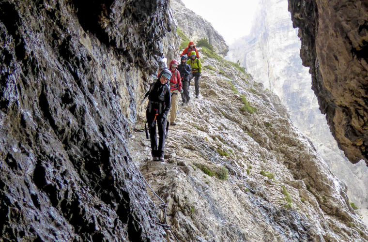Klettersteig Alpinisteig - via ferrata Strada degli Alpini-3