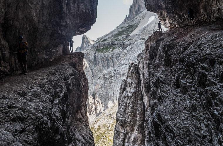 Klettersteig Alpinisteig - via ferrata Strada degli Alpini-5