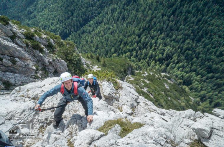 Klettersteig Col Rosa via ferrata-3