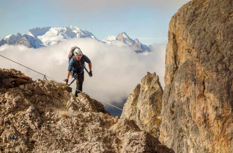 Klettersteig Col dei Bos via ferrata-10