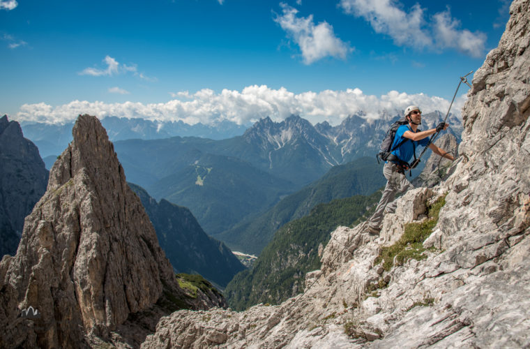 Klettersteig Roghel Cengia Gabriella via ferrata-3