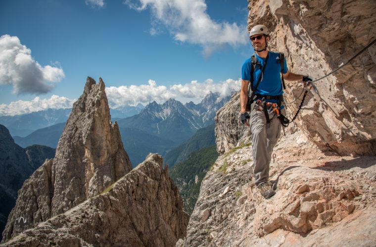 Klettersteig Roghel Cengia Gabriella via ferrata-4