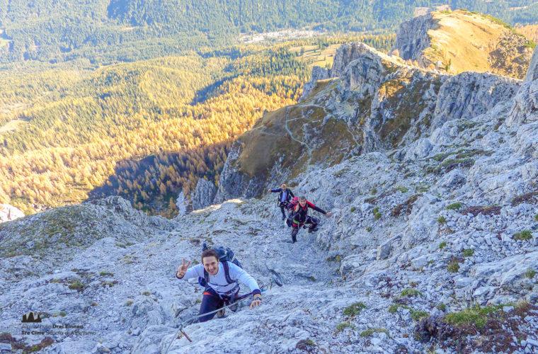 Klettersteig Rotwandspitze - via ferrata Croda Rossa-3