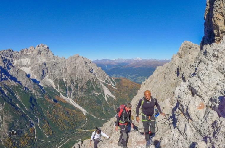 Klettersteig Rotwandspitze - via ferrata Croda Rossa-4