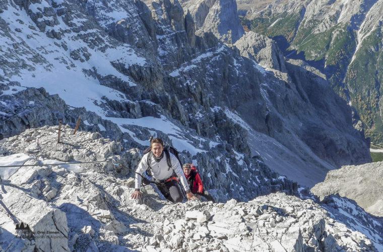 Klettersteig Rotwandspitze - via ferrata Croda Rossa-5