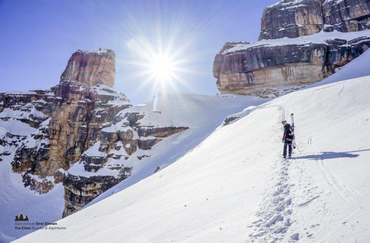 Skitour - sci d'alpinismo Drei Zinnen Tre Cime-14
