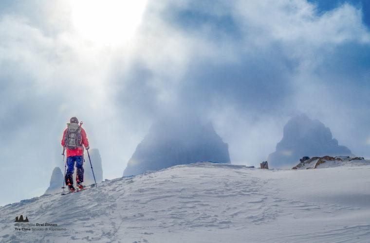 Skitour - sci d'alpinismo Drei Zinnen Tre Cime-16