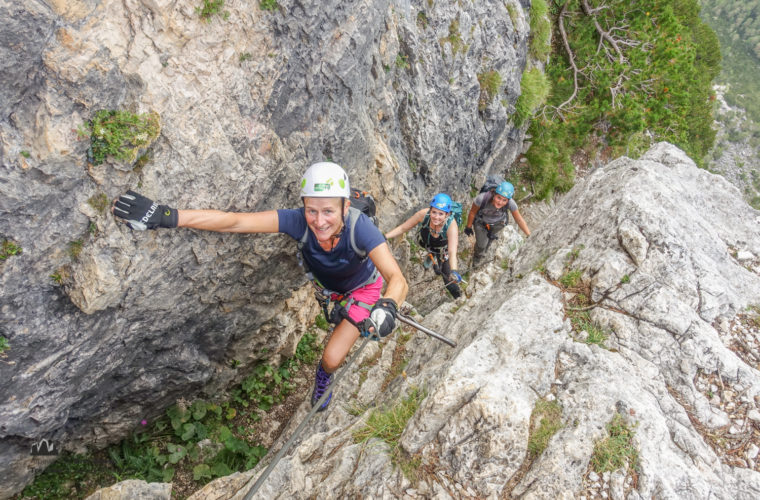 via ferrata Fiames-Strobl Klettersteig Alpinschule Drei Zinnen-1
