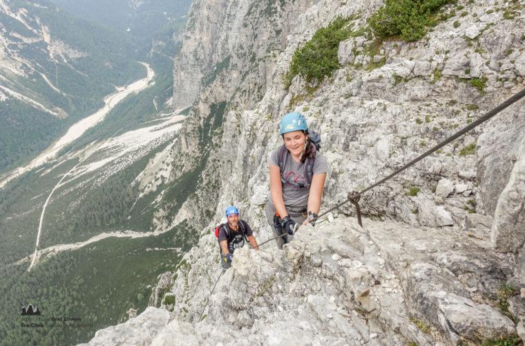 via ferrata Fiames-Strobl Klettersteig Alpinschule Drei Zinnen-10
