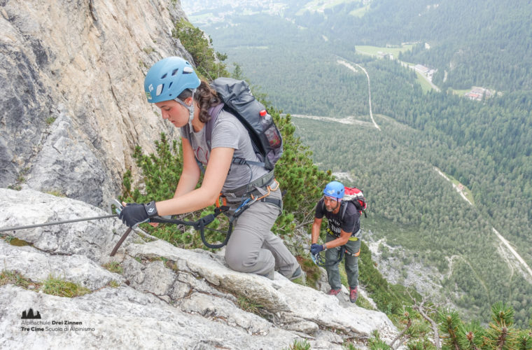 via ferrata Fiames-Strobl Klettersteig Alpinschule Drei Zinnen-3