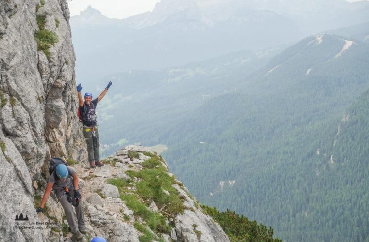 via ferrata Fiames-Strobl Klettersteig Alpinschule Drei Zinnen-4