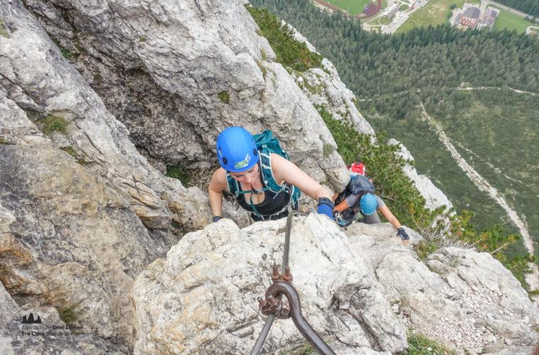 via ferrata Fiames-Strobl Klettersteig Alpinschule Drei Zinnen-5
