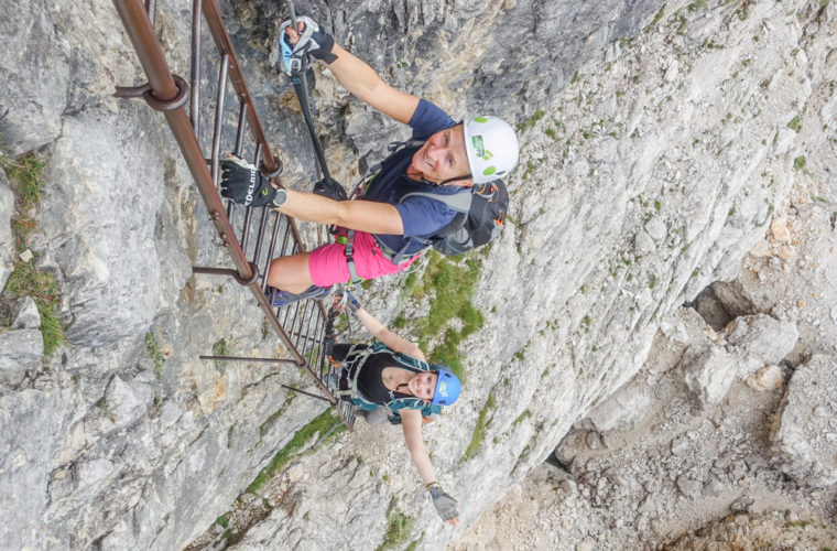 via ferrata Fiames-Strobl Klettersteig Alpinschule Drei Zinnen-8