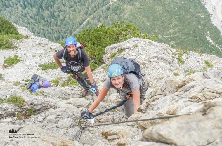 via ferrata Fiames-Strobl Klettersteig Alpinschule Drei Zinnen-9