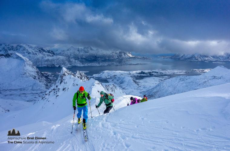 Lofoten Alpinschule Drei Zinnen Skitour - Skitouring (11)