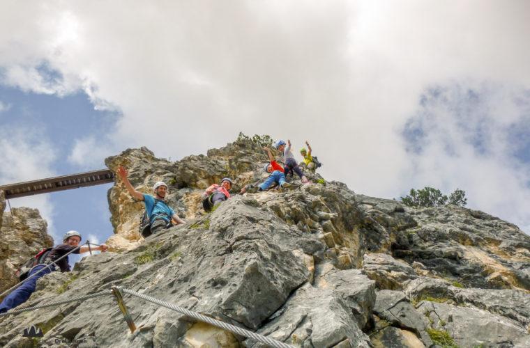 Klettersteig Pomedes Ra Pegna ferrata -1