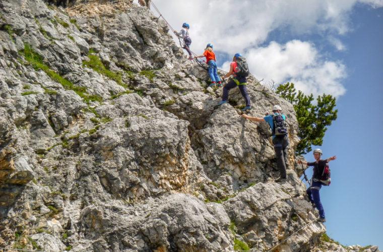 Klettersteig Pomedes Ra Pegna ferrata -2