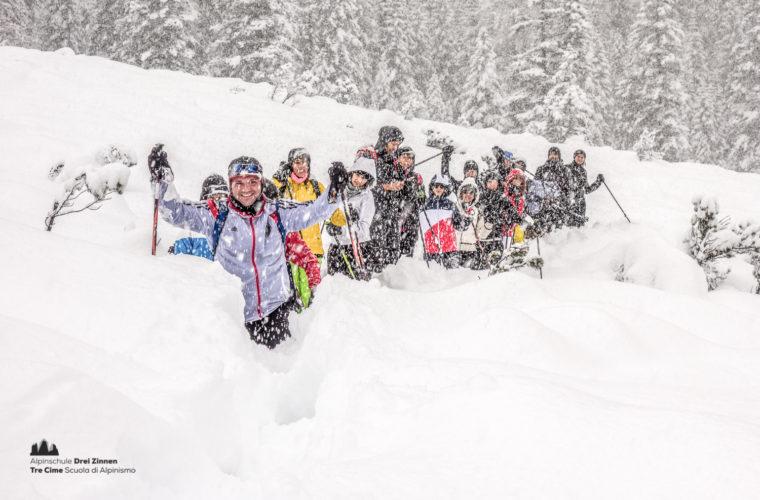 Schneeschuhwanderung - Ciaspolata - snowshow hiking-35