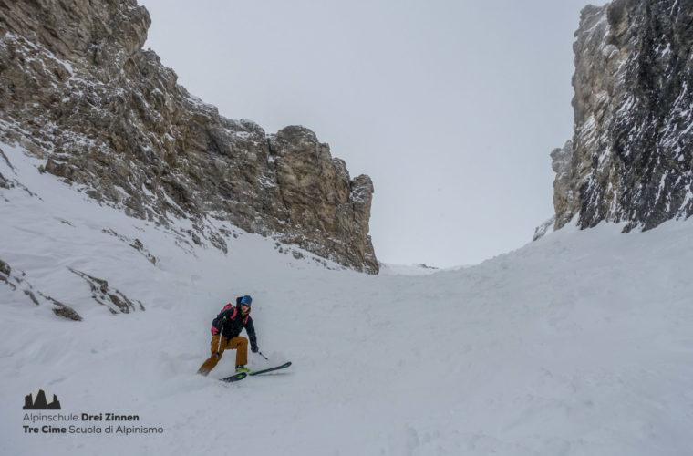 Skitour Mittagstal Val Mesdi Alpinschule Drei Zinnen freeride (3)