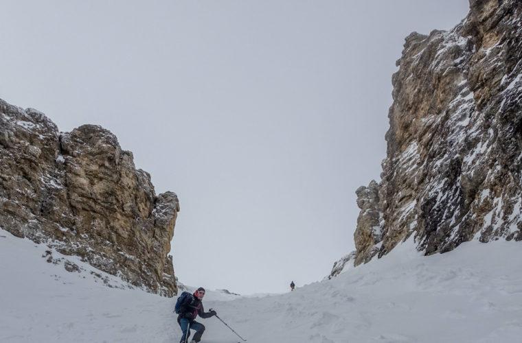 Skitour Mittagstal Val Mesdi Alpinschule Drei Zinnen freeride (4)