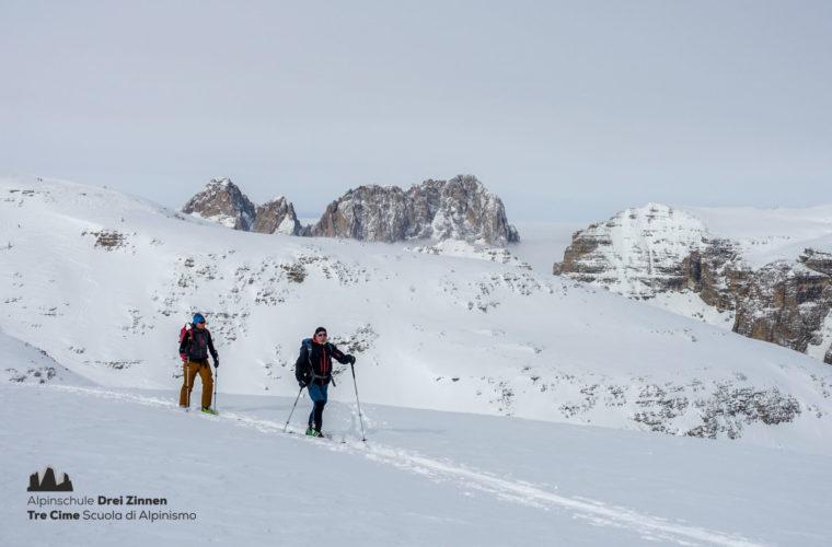 Skitour Mittagstal Val Mesdi Alpinschule Drei Zinnen freeride (5)
