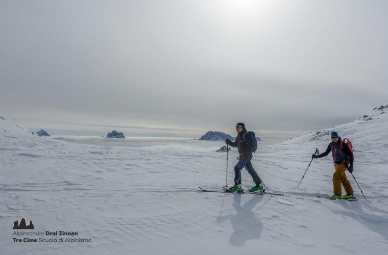 Skitour Mittagstal Val Mesdi Alpinschule Drei Zinnen freeride (6)