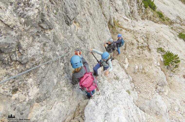 via ferrat Sas de Stria Hexenstein Klettersteig Alpinschule Drei Zinnen-10