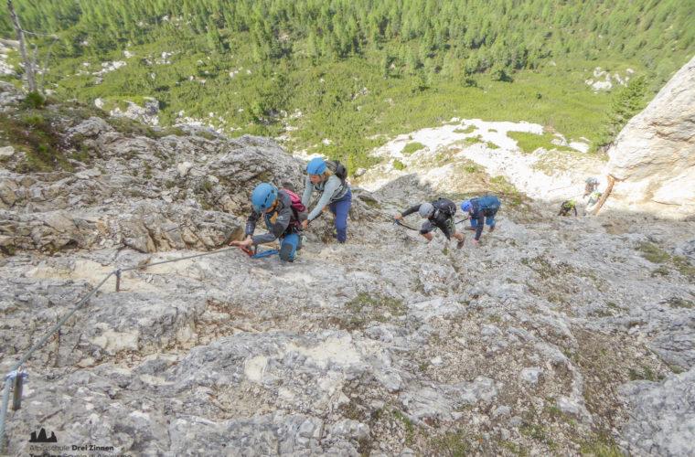 via ferrat Sas de Stria Hexenstein Klettersteig Alpinschule Drei Zinnen-11