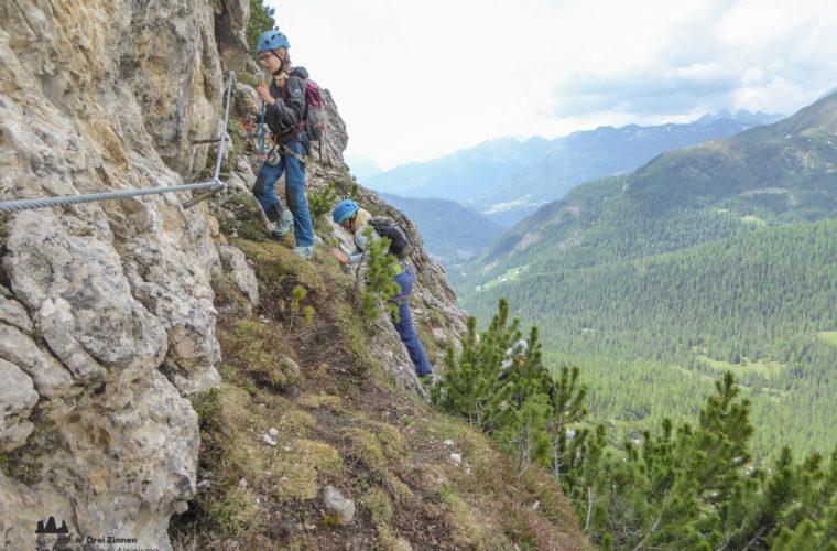 via ferrat Sas de Stria Hexenstein Klettersteig Alpinschule Drei Zinnen-12