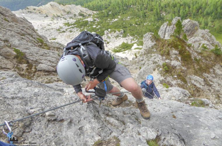 via ferrat Sas de Stria Hexenstein Klettersteig Alpinschule Drei Zinnen-14