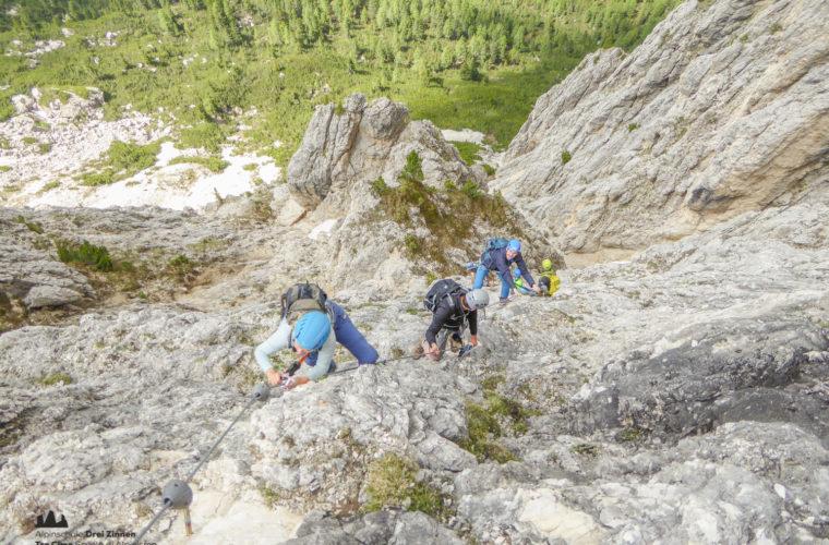 via ferrat Sas de Stria Hexenstein Klettersteig Alpinschule Drei Zinnen-15
