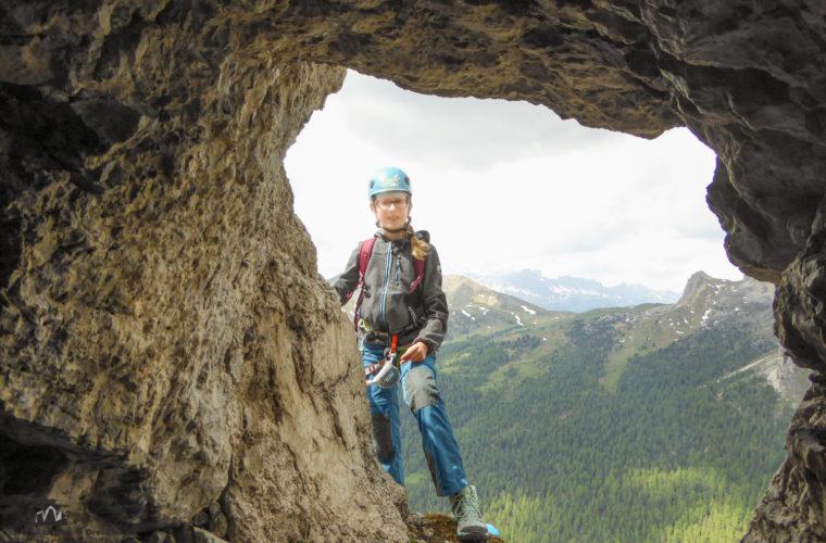 via ferrat Sas de Stria Hexenstein Klettersteig Alpinschule Drei Zinnen-16