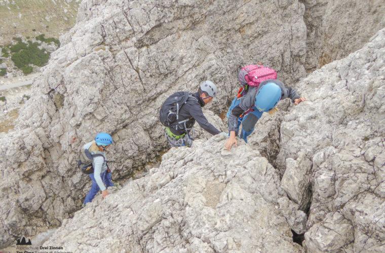 via ferrat Sas de Stria Hexenstein Klettersteig Alpinschule Drei Zinnen-17