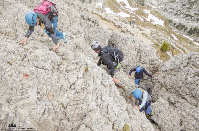 via ferrat Sas de Stria Hexenstein Klettersteig Alpinschule Drei Zinnen-18