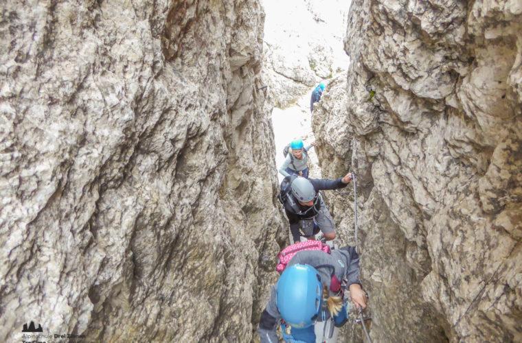 via ferrat Sas de Stria Hexenstein Klettersteig Alpinschule Drei Zinnen-19