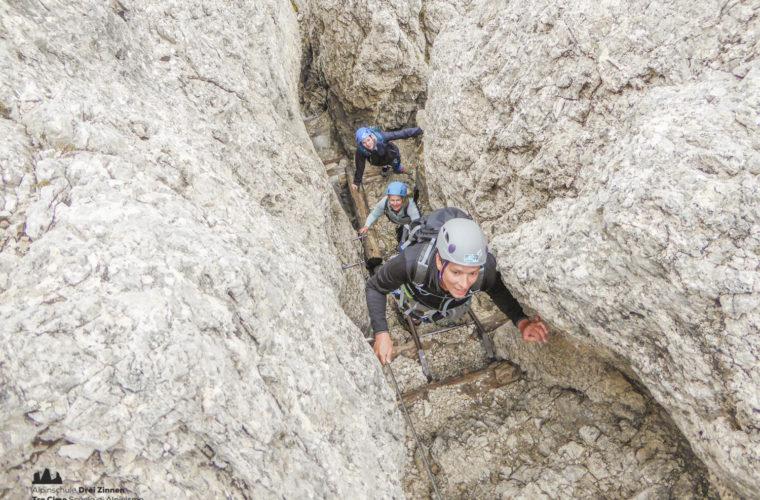 via ferrat Sas de Stria Hexenstein Klettersteig Alpinschule Drei Zinnen-20